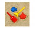 Наборы для игры в песке №108 (3 формочки, грабли, совок )