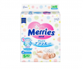 Подгузники Merries Air Through (4-8кг) 82шт