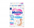 Подгузники Merries Air Through (6-11кг) 64шт